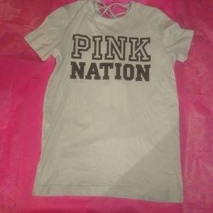 NWOT PINK Nation Shirt - Size  XS